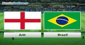 Link Sopcast, link xem trực tiếp Anh vs Brazil đêm nay 15/11/2017 Giao hữu quốc tế