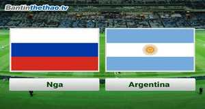 Link Sopcast, link xem trực tiếp Nga vs Argentina tối nay 11/11/2017 Giao hữu quốc tế