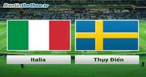 Link Sopcast, link xem trực tiếp Ý vs Thụy Điển đêm nay 14/11/2017 vòng loại World Cup