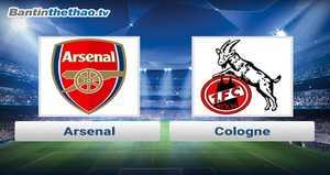Link xem trực tiếp, link sopcast Arsenal vs Cologne đêm nay 24/11/2017 Europa League
