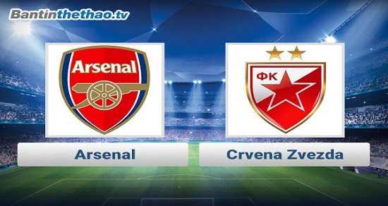 Link xem trực tiếp, link sopcast Arsenal vs Crvena Zvezda đêm nay 3/11/2017 Europa League