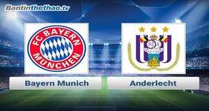 Link xem trực tiếp, link sopcast Bayern vs Anderlecht đêm nay 23/11/2017 Champions League