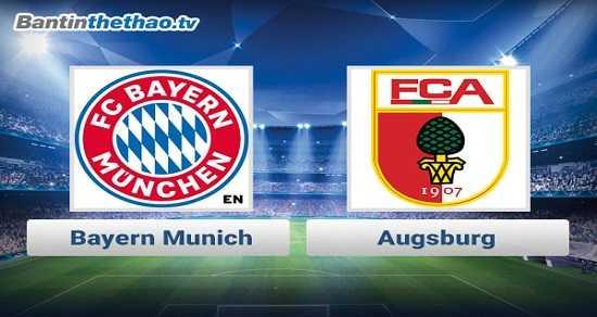 Link xem trực tiếp, link sopcast Bayern vs Augsburg đêm nay 18/11/2017 vô địch Bundesliga