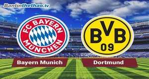 Link xem trực tiếp, link sopcast Bayern vs Dortmund đêm nay 5/11/2017 vô địch Bundesliga