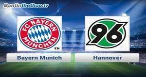 Link xem trực tiếp, link sopcast Bayern vs Hannover đêm nay 2/12/2017 vô địch Bundesliga