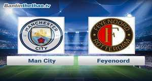 Link xem trực tiếp, link sopcast Man City vs Feyenoord đêm nay 22/11/2017 Champions League