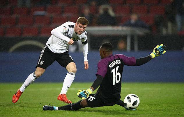 Werner gỡ hòa 1-1 cho tuyển Đức