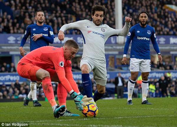 Hoà đáng tiếc với Everton, Chelsea không thể bứt phá trên BXH