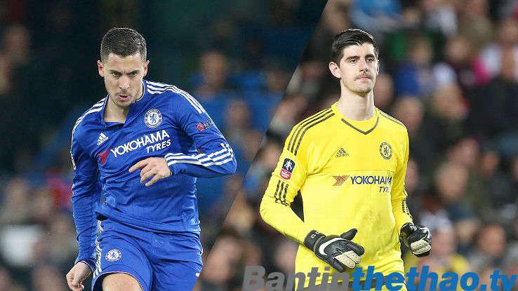 Conte muốn Chelsea gia hạn hợp đồng với Hazard và Courtois càng sớm càng tốt