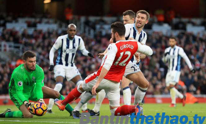 Arsenal vs West Brom tối nay 31/12/2017 Ngoại Hạng Anh