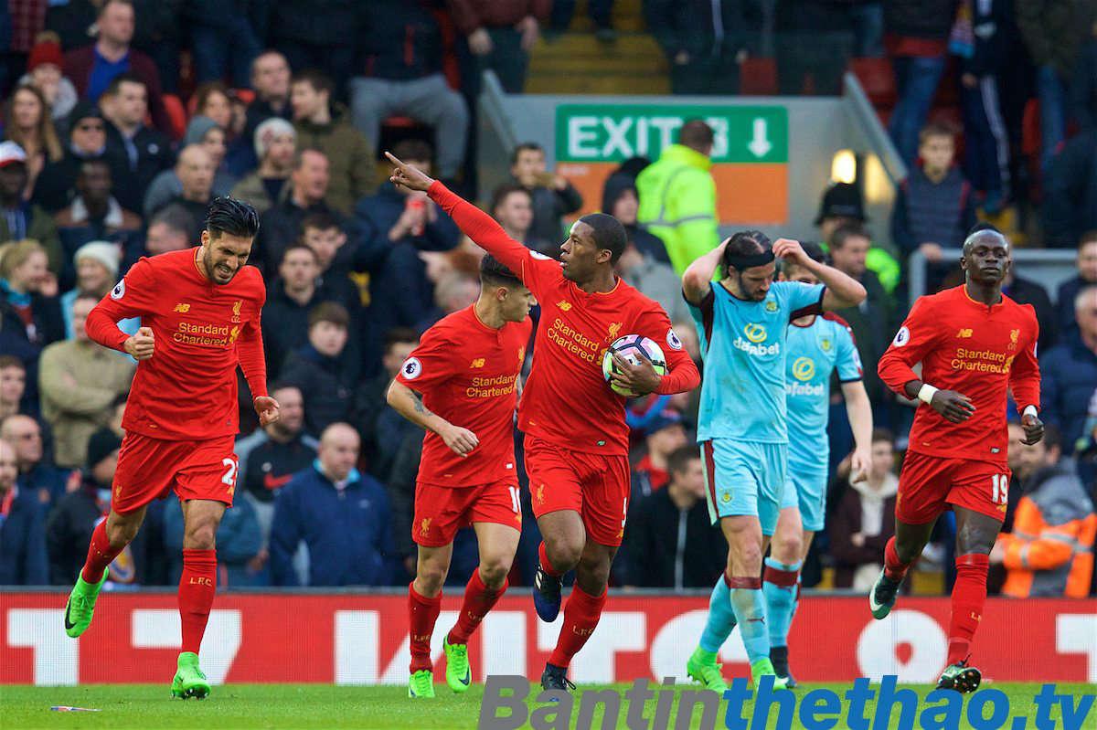 Liverpool vs Burnley hôm nay 1/1/2018 Ngoại Hạng Anh