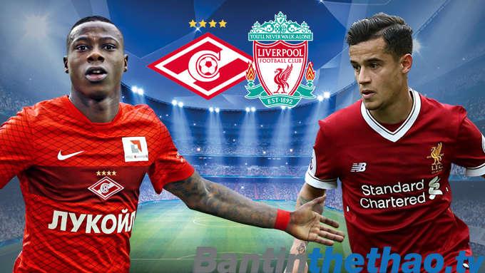 Liverpool vs Spartak Moskva hôm nay 7/12/2017