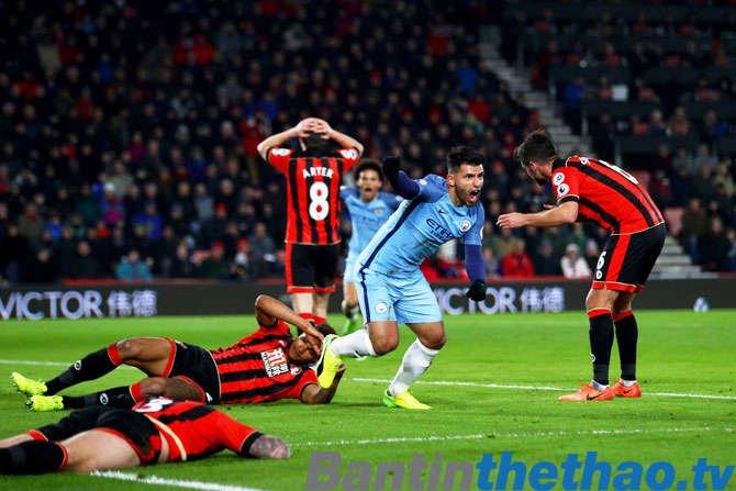 Man City vs Bournemouth tối nay 23/12/2017 Ngoại Hạng Anh