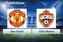 Link xem trực tiếp, link sopcast MU vs CSKA Moskva hôm nay 6/12/2017 Champions League