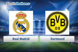 Link xem trực tiếp, link sopcast Real vs Dortmund hôm nay 7/12/2017 Champions League