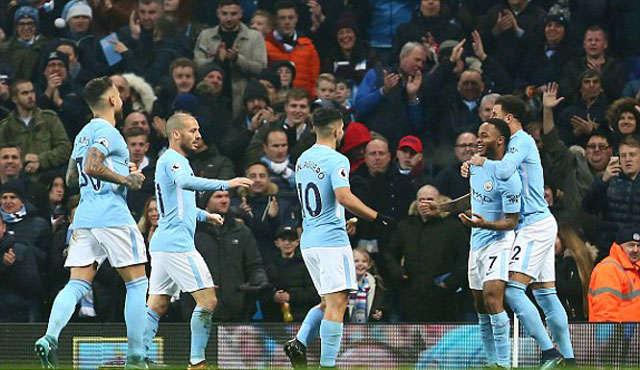 Man City thiết lập kỷ lục thắng 17 trận liên tiếp tại Premier League