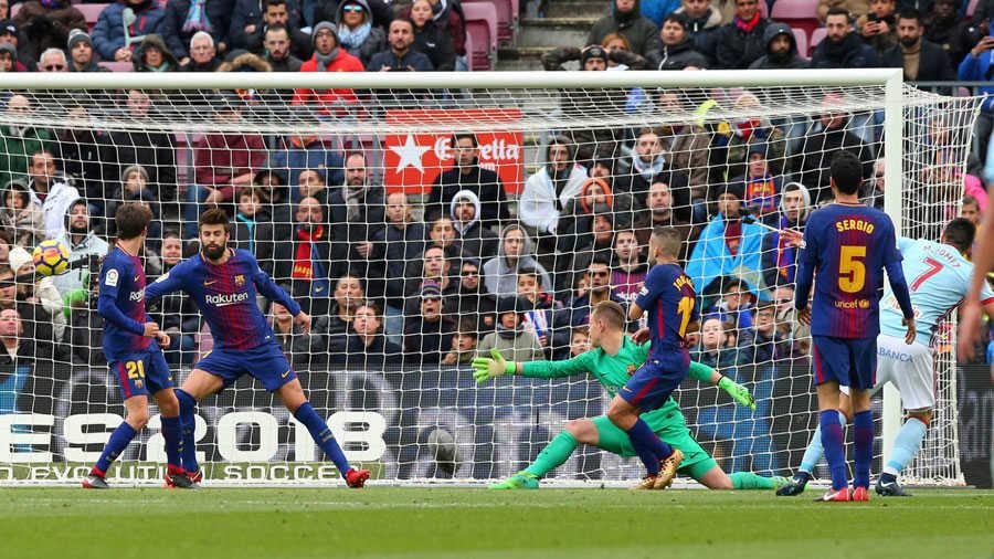 """Messi đã """"nổ súng"""", nhưng Barca vẫn hoà tức tưởi trước Celta Vigo"""