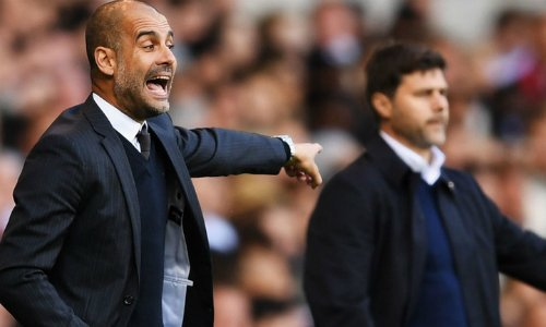 Guardiola chưa thắng được đồng nghiệp Pochettino sau hai trận đối đầu ở nước Anh.