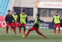 U23 Việt Nam chuẩn bị chờ đấu U23 Qatar