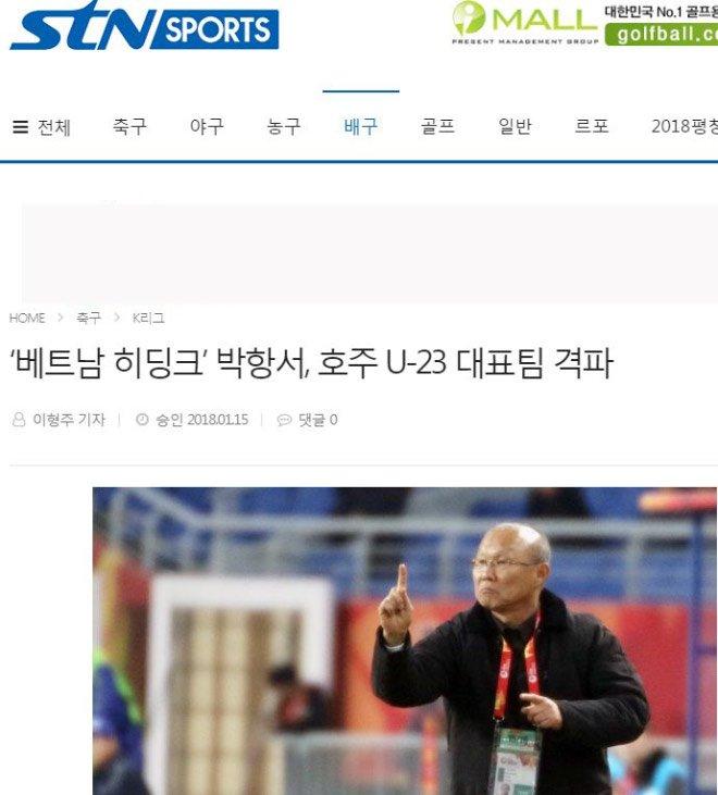 Báo chí Hàn Quốc hết lời ca ngợi HLV Park Hang Seo