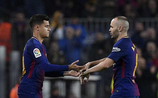 Coutinho vào sân chơi trận ra mắt cho Barca