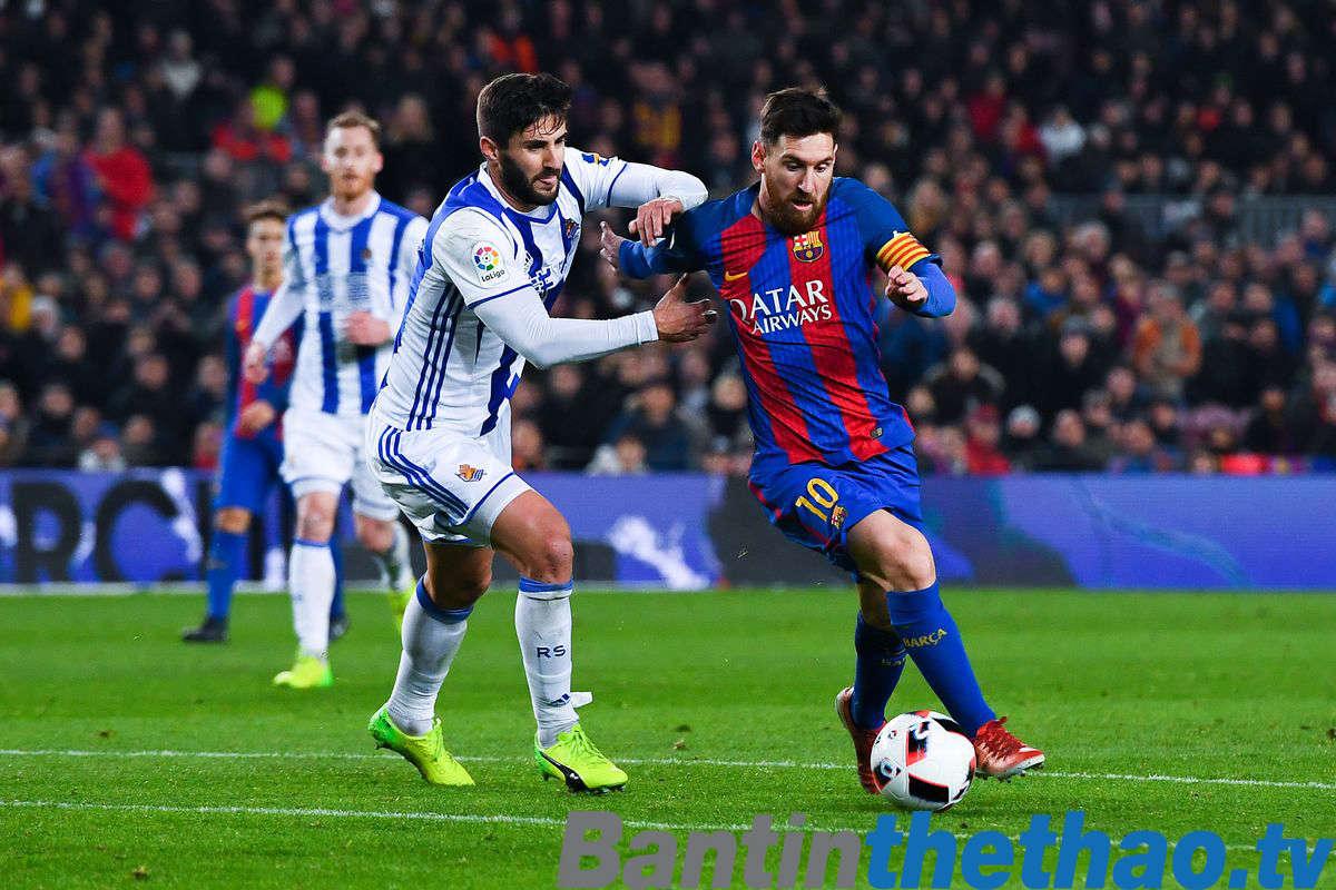 Barca vs Real Sociedad đêm nay 15/1/2018 La Liga