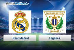 Link xem trực tiếp, link sopcast Real vs Leganes hôm nay 19/1/2018 Cúp Nhà Vua