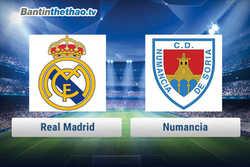 Link xem trực tiếp, link sopcast Real vs Numancia hôm nay 11/1/2018 Cúp Nhà Vua