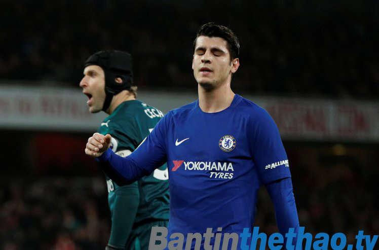 Morata đã có một đêm thi đấu đáng quên