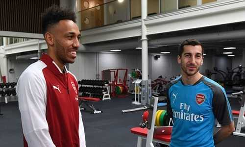 Aubameyang và Mkhitaryan, tái hiện lại cặp đôi song sát tại Emirates