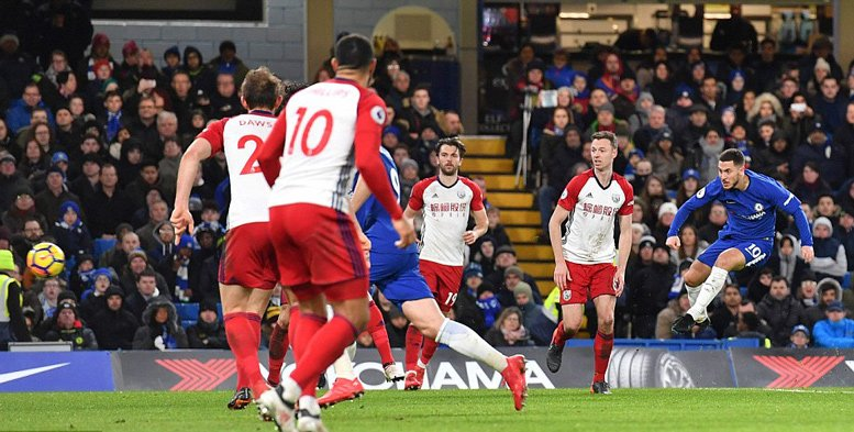 Hazard khai thông bế tắc cho Chelsea