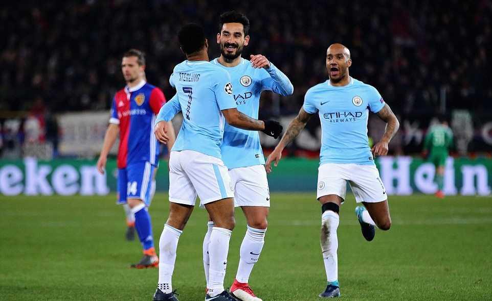 Vùi dập Basel, Man City đặt 1 chân vào tứ kết C1