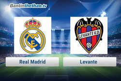 Link xem trực tiếp, link sopcast Real vs Levante tối nay 4/2/2018 La Liga