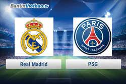 Link xem trực tiếp, link sopcast Real vs PSG đêm nay 15/2/2018 Cúp C1