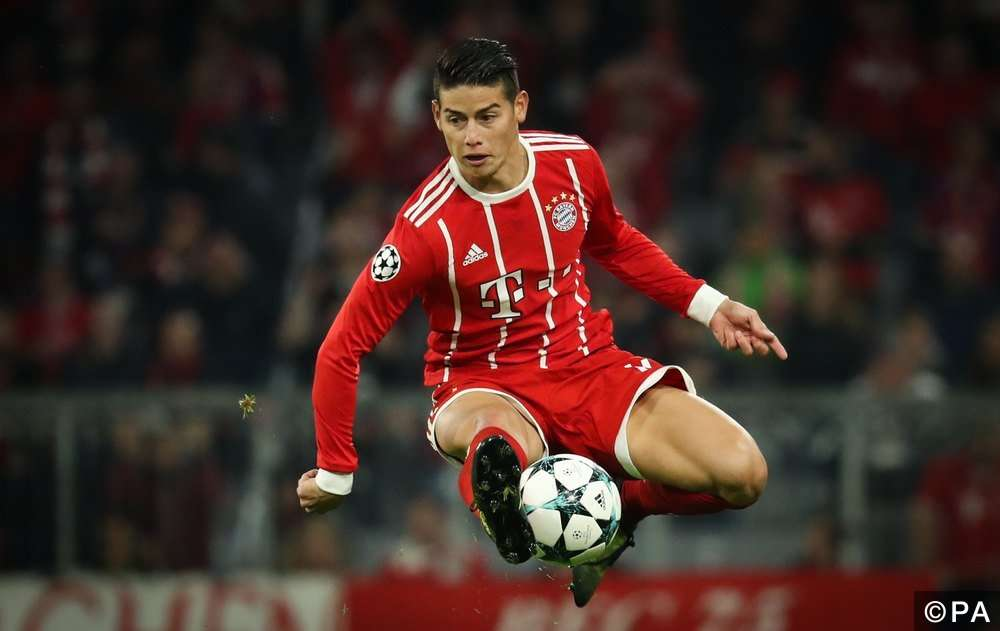 James Rodriguez của Bayern Munich