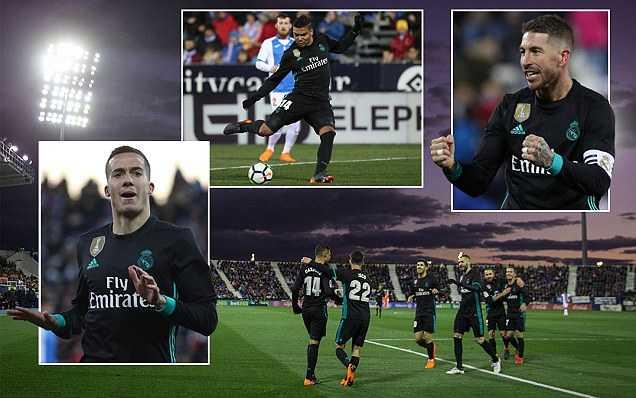 Vắng Ronaldo, Real Madrid vẫn vùi dập Leganes