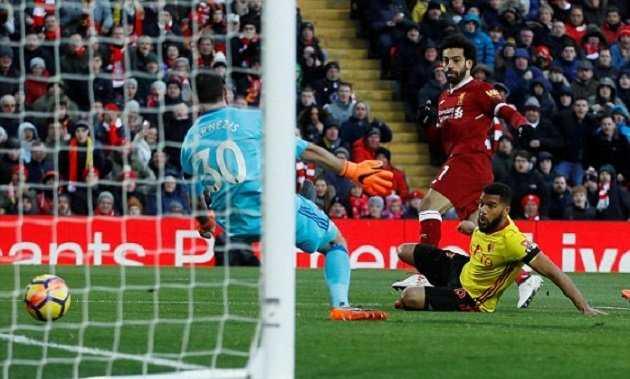 Salah lập poker, Liverpool đè bẹp Watford