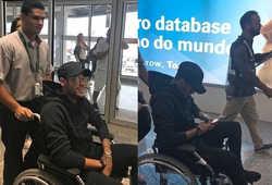 Neymar ngồi xe lăn, nguy cơ lỡ hẹn World Cup 2018