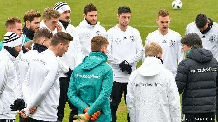 Một buổi tập của cầu thủ Đức