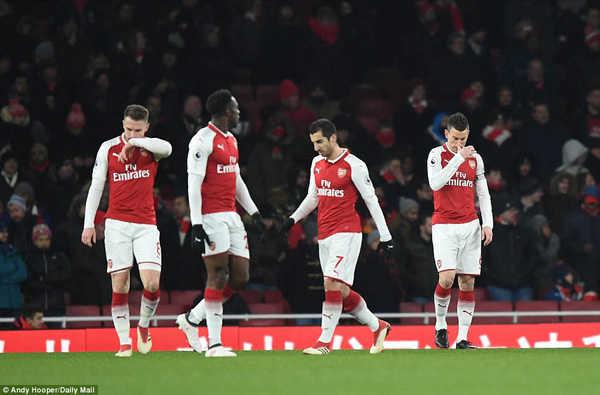 Arsenal thi đấu tệ chưa từng thấy trên sân nhà