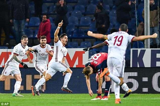 AC Milan là đội bóng có phong độ tốt thứ 2 Serie A trong năm 2018