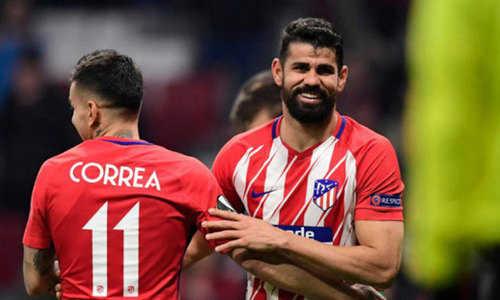 Đại thắng ở lượt đi, Atletico giành vé trước vào tứ kết Europa League