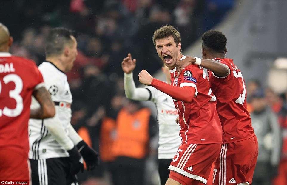 Bayern luôn quyết tâm giành chiến thắng trong mọi trận đấu