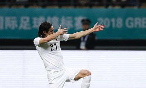 Cavani chói sáng, Uruguay vô địch China Cup 2018