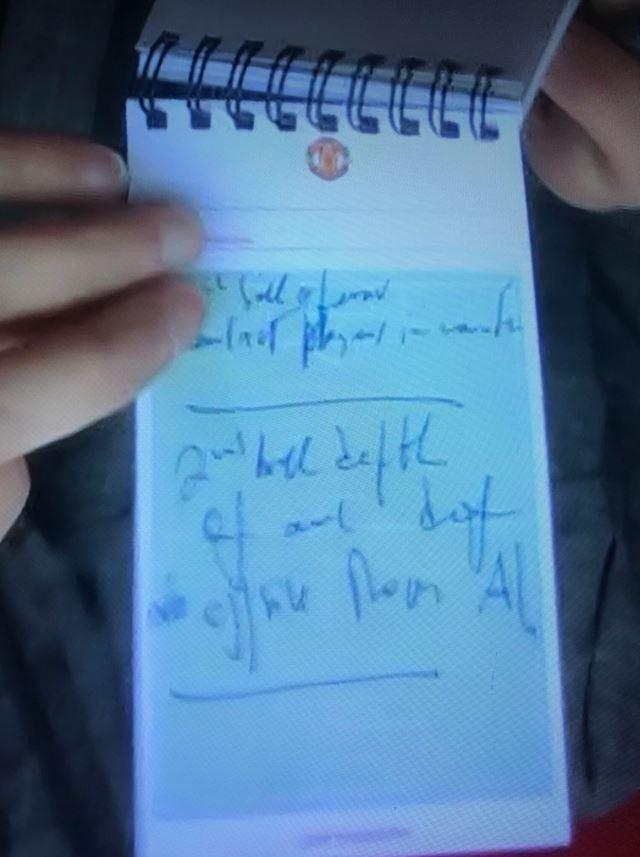 """Nội dung mảnh giấy của Mourinho nhấn mạnh tới """"2nd ball"""" (bóng hai) và """"Rom"""" (Romelu Lukaku)"""