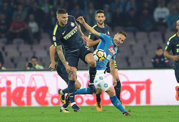 Cuộc chiến giữa Inter và Napoli ảnh hưởng lớn đến mục tiêu của 2 đội
