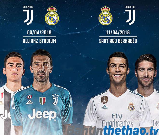 Juventus và Real thêm một lần nữa gặp nhau ở Tứ kết Champions League năm nay