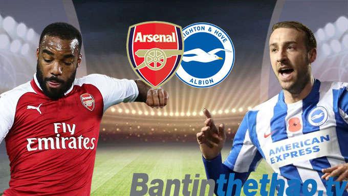 Arsenal vs Brighton tối nay 4/3/2018 Ngoại Hạng Anh