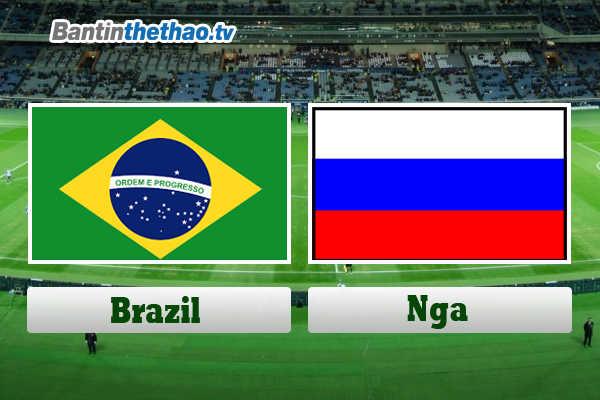 Link Sopcast, link xem trực tiếp live stream Brazil vs Nga tối nay 23/3/2018 Giao hữu quốc tế