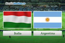 Link Sopcast, link xem trực tiếp live stream Italia vs Argentina đêm nay 24/3/2018 Giao hữu quốc tế